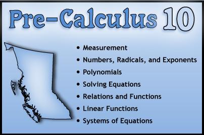 Pre-Calculus 10