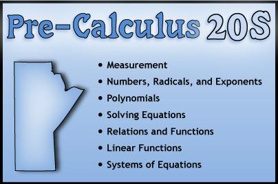 Pre-Calculus 20S