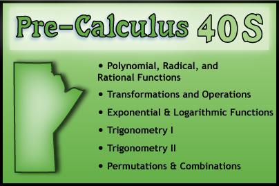 Pre-Calculus 40S